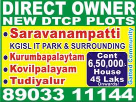 Thudiyalur DTCP Sites and House For Sale
