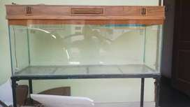 4 feet aquarium with stand and wooden top