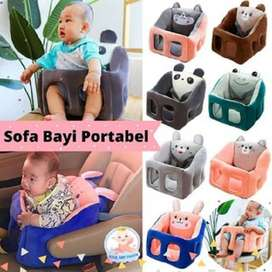 New! Kursi Sofa Bayi Portabel Bahan Original Plush Empuk Karakter