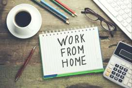 Work at Your Place Online and offline work available Call 8657653I28