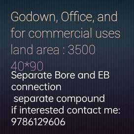 Godowns, shops, office and commercial uses for rent