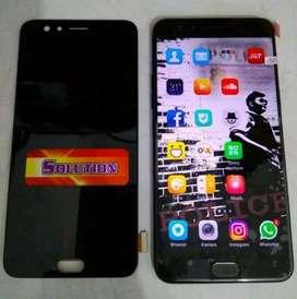 Lcd Touchscreen Oppo F3+ Black White + Pasang