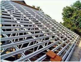 Kontruksi baja ringan renovasi rumah perbaikan atap dll
