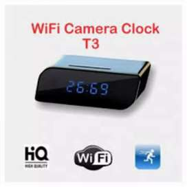 Hidden T3 WiFi Table Clock HD 1080P