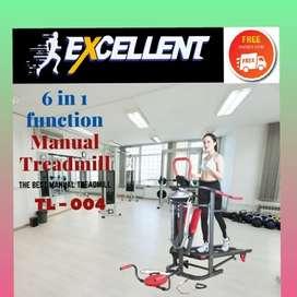 treadmill manual TL-004 alat olahraga lari