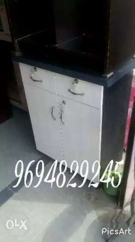 New bege White wooden cabinet
