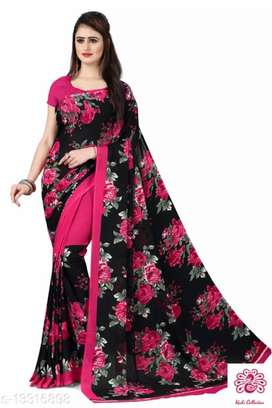 Catalog Name:*Adrika Graceful Sarees* Saree Fabric: Georgette