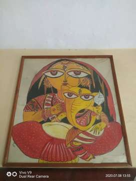 Painting Jamini Roy Style