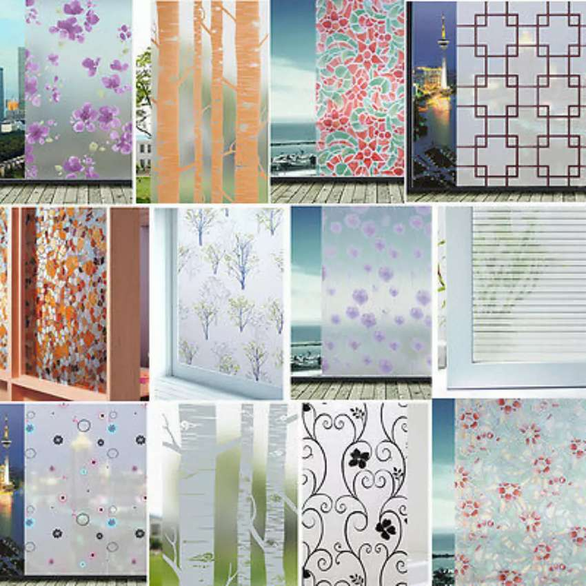 Frosted floral window glass paper 0