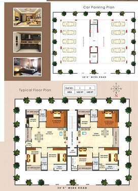 $Unfurnished 3BHK% 1650sqft Apartment/ at Mahitha's Green Dwaraka