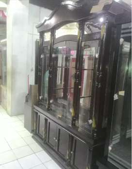 lemari cristal ukir 4 pintu kokoh kuat edisi promo bulan