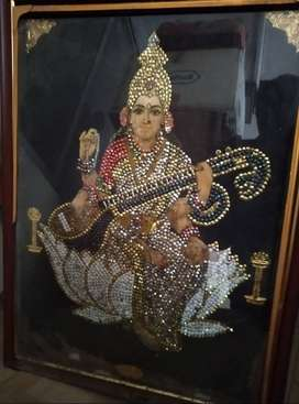 Antique painting of a Goddess