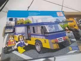 Lego mobil bis besar emco & bonus 2 lego mobil kecil