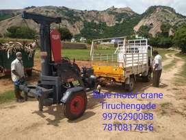 Bore motor crane