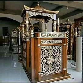 mimbar masjid kubah elegan