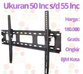 bracket tv 50-55 inc gratis ongkir bjm kota