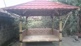 Saung bambu gajebo bambu