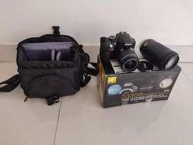 Nikon DSLR D3300 with 2 lenses,tripod, bag and 16Gb wireless mem card