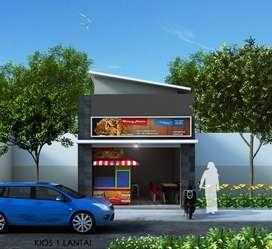 Kios 1 lantai lokasi strategis Pinggir jalan di Ciampea Bogor