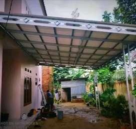 Plapon PVC terpasang Dan menerima pemasangan rangka atap baja ringan