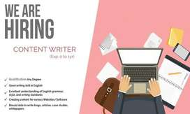 We Are Hiring Content Writers