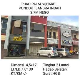 Ruko Palm Square Pondok Tjandra Indah Surabaya Timur