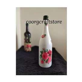 Wine bottles ,water bottle, home decor, gift - 400/bottle