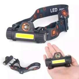 Senter Kepala LED Recharge Mini Ukuran Sejari