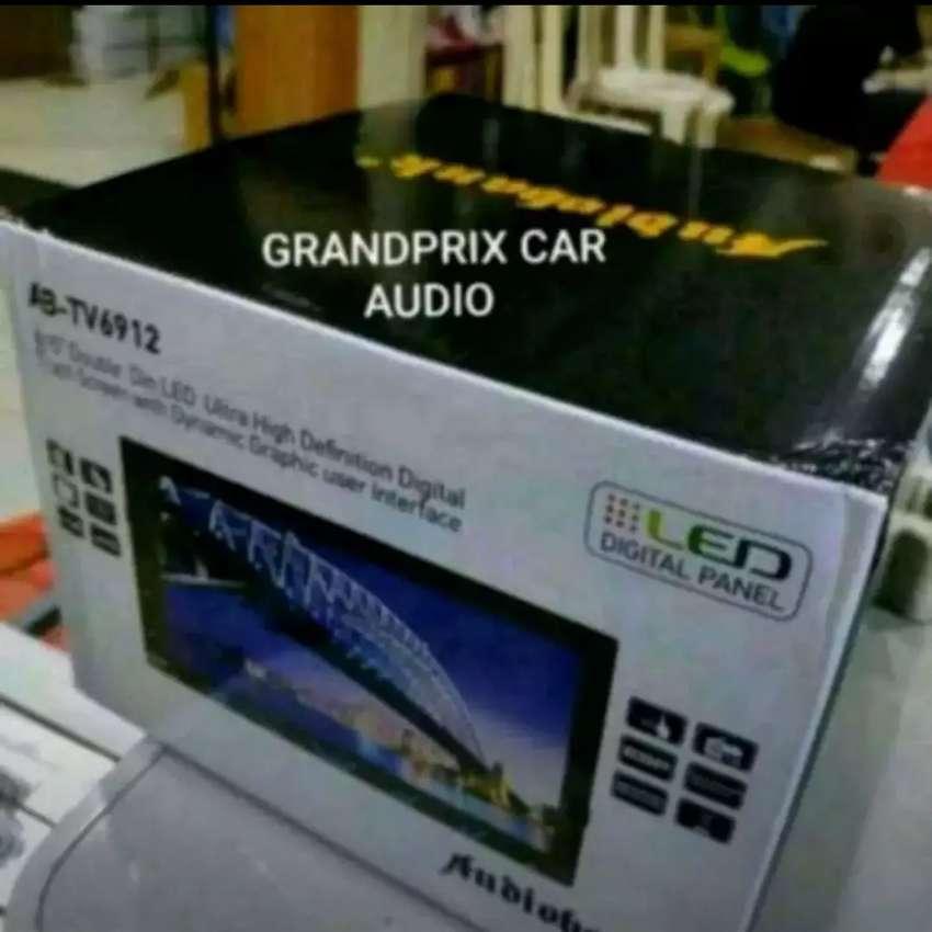 head unit double din tv usb radio touchscrean layar 7inch audio bank 0