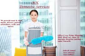 We provide Housemaid babysitter Patient aAttendent Driver cook