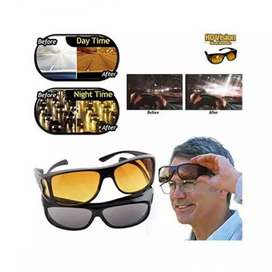 HD Vision Day and Night Glasses Black and Yellow