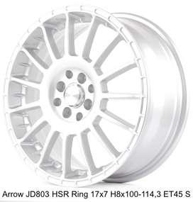 VELG RACINGARROW JD803 HSR R17X7 H8X100-114,3 ET45 SILVER