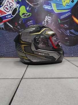 Jual helm KYT k2 rider kondisi baru