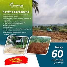Tanah kebun durian dekat Taman Bunga Nusantara Cianjur