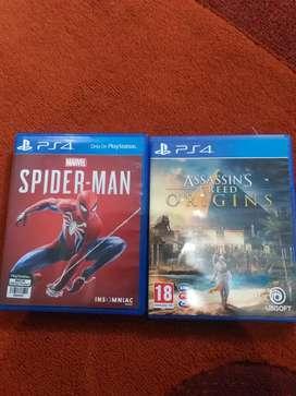 BD PS4 Spiderman & Assassin's Creed Origins