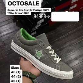 "Original  Converse One Star OX Vintage CNVS ""Olive Green"""