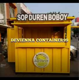 Booth Container jajanan durian booth minuman booth semi Container