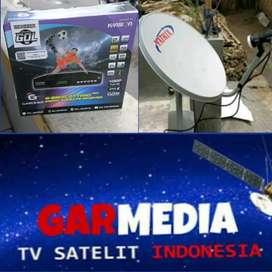 Parabola mini channel2 nasional lengkap, garmedia tv