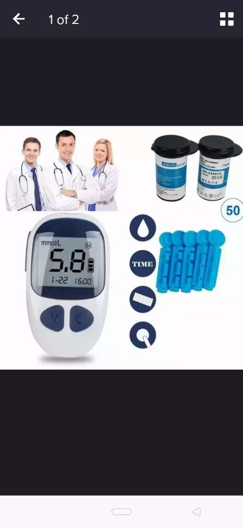 Electronic glucometer blood minister diabaties test meter with strips 0