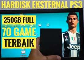 HDD 250GB FULL 70 GAME KEKINIAN PS3 Siap Dikirim