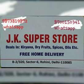 j.k supar shore Kirana shore free home delivery whatsapp odar s
