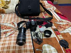 dslr canon 700d with two lens