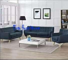 Erafurniture*sofa 321 set VINTAGE biru tua(TANPA MEJA)