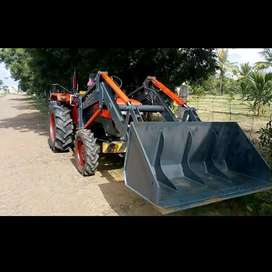 Tractor attachment sand , rock loading front loader