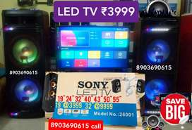 """New 40"""" led tv ₹13500(for55""""=rs29999/-)and24 32 43 50 55&Hometheatr"""