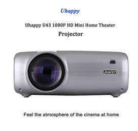Uhappy U43 LED LCD Projector 1080P Home Theater 2600 Lumens 200 Inches
