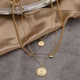Trendy multi layered necklaces