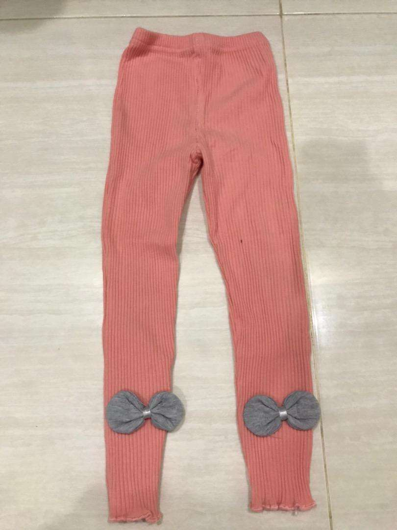 Legging reeb orange ribbon kids size 140 0