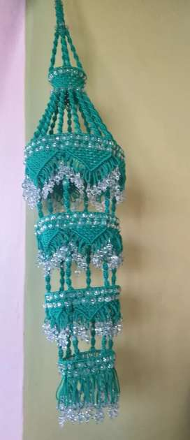 New jhumar green colour macrame Jhumar big