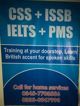 Language and IELTS and CSS preparation